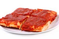 Tomatenpizza Stock Afbeelding