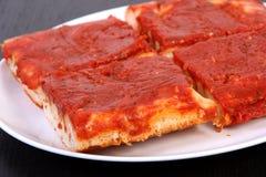 Tomatenpizza Royalty-vrije Stock Foto's