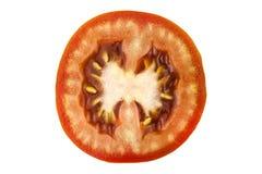 Tomatenplak op witte achtergrond, hoogste mening wordt geïsoleerd die Verse eigengemaakte groenten Groeiende tomaten Voorbereidin Royalty-vrije Stock Fotografie