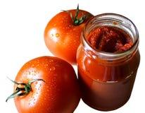Tomatenpuree Stock Afbeeldingen
