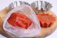 Tomatenpuree en tomatesap Stock Fotografie