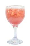 Tomatensaftglas lokalisiert auf weißem Hintergrund stockfotos