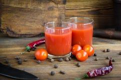 Tomatensaftpfefferkirsche lizenzfreie stockbilder