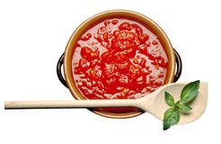 Tomatensauce stockfotografie