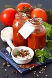 Tomatensauce. Stockbilder