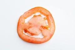 Tomatenscheibe Stockfoto