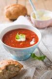 Tomatensoep Royalty-vrije Stock Afbeeldingen