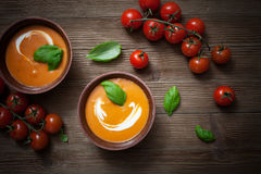 Tomatensoep Stock Afbeeldingen