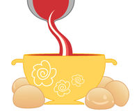 Tomatensoep en broodjes Royalty-vrije Stock Foto