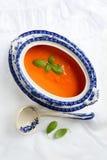 Tomatensoep Terrine Stock Fotografie