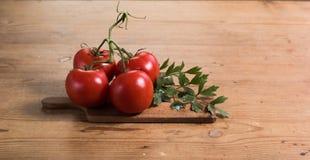 Tomatentabelle Stockfoto