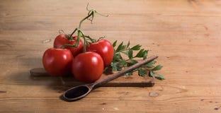 Tomatentabelle Stockfotos