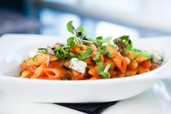 Tomatenteigwaren mit Rindfleisch Lizenzfreies Stockfoto