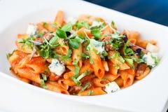 Tomatenteigwaren mit Rindfleisch Stockfoto