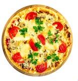 Tomatepizza Stockfotografie