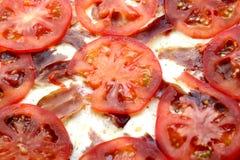 Tomatepizza stockbilder