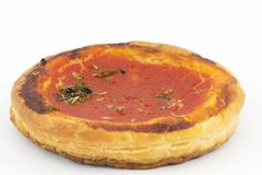 tomater för bakelsepizzaspuff Royaltyfri Bild