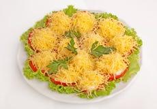 Tomater med ost Fotografering för Bildbyråer