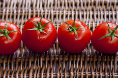 Tomater med petioles arkivfoton