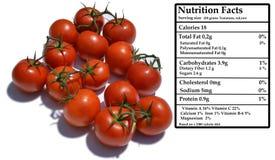 Tomater - näring Arkivfoto