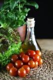 Tomater och basilika Royaltyfria Bilder