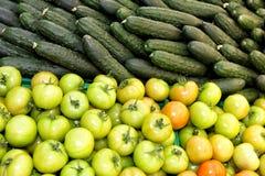 Tomater och gurkor Royaltyfri Bild