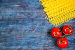 Tomater och pasta Fotografering för Bildbyråer