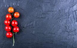 Tomater på en mörk kritabakgrund Royaltyfria Foton