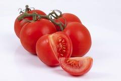 Tomater på en vitbakgrund Royaltyfri Fotografi