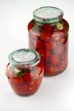 Tomates adobados hechos en casa Foto de archivo