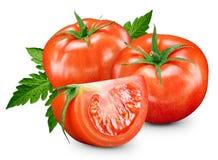 Tomates aislados en blanco Foto de archivo