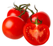 Tomates aislados en un fondo blanco. Imagen de archivo libre de regalías