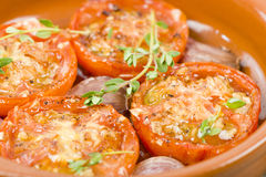 Tomates al Ajillo Royalty Free Stock Photography