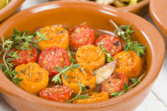 Tomates al Ajillo Royalty Free Stock Image