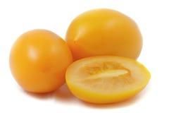 Tomates amarillos Foto de archivo