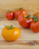 Tomates amarillos y rojos Imagenes de archivo
