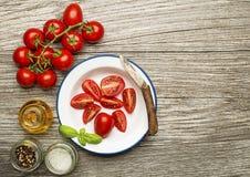 Tomates avec des épices Photos libres de droits