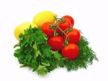 Tomates avec des citrons Photos libres de droits