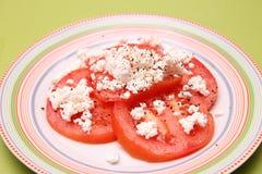 Tomates avec du feta image stock