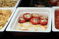 Tomates avec du fromage Photos libres de droits