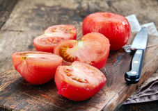 Tomates blanchies Photos stock