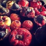 Tomates bourrées photographie stock