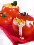 tomates bourrées Photo stock