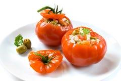 Tomates bourrées Photos stock