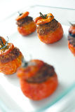 Tomates bourrées de viande Photographie stock libre de droits