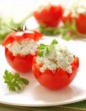 Tomates bourrées du feta Photos libres de droits