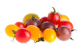 Tomates-cerises colorées Photographie stock