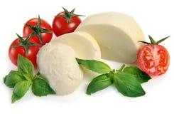 Tomates-cerises de mozzarella Photographie stock