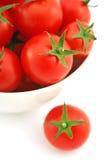 Tomates-cerises fraîches Images stock