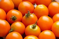 Tomates-cerises pour le fond, tomates-cerises pour le wallpaperclose  photographie stock